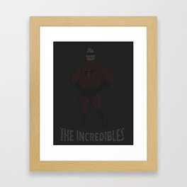 The Incredibles Typography Framed Art Print