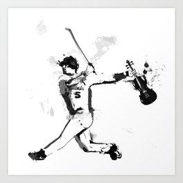 Baseball Violin Art Print
