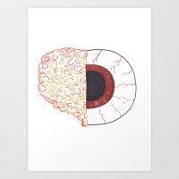 Brain/Eye Art Print