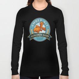 Golden God Amber Ale label Long Sleeve T-shirt