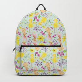 Cute Spring Bunny Pattern Backpack