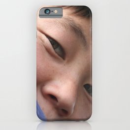 Look me in the eyes - close-up | Travel Photography iPhone Case