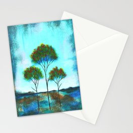 Blessings, Skinny Trees Rustic Art Stationery Cards
