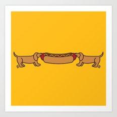 Hot Dog-O-War Art Print