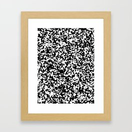 Small Spots - White and Black Framed Art Print