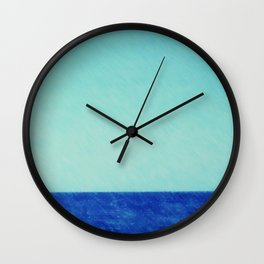 sea, blue, horizon, turquoise, greenish-blue, vocation, summer, leisure, beach, ocean, gulf Wall Clock