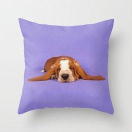 Basset Hound Puppy Throw Pillow