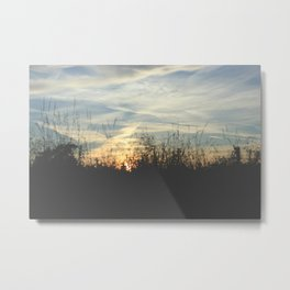Countryside sunest Metal Print