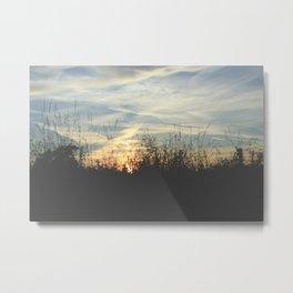 Countryside sunest Metal Print