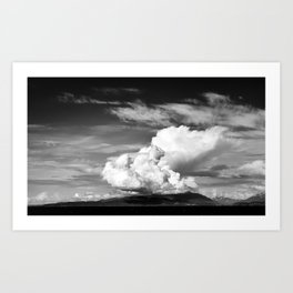 Tall cloud Art Print