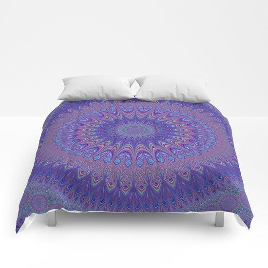 Purple mandala Comforters
