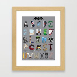 The Alphabat  - Vertical Rookie Framed Art Print