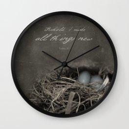 New Beginings~ nest Wall Clock