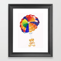 Parachuting Bear 2 Framed Art Print