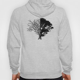 Half Tree Leaves Half No Leaves Art Hoody