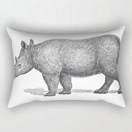 Vintage Rhinoceros Rectangular Pillow