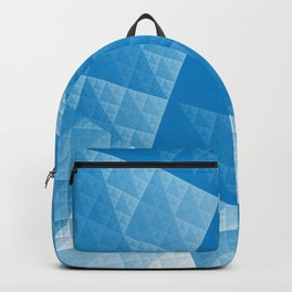 Blue abstract pattern Backpack
