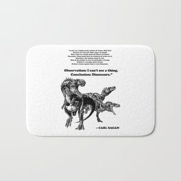 Conclusion: Dinosaurs [Black] Bath Mat