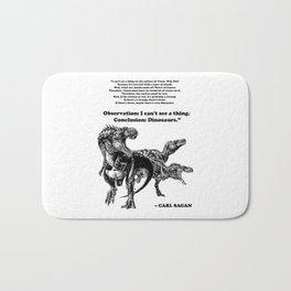 Conclusion: Dinosaurs [Black] Bath Mat