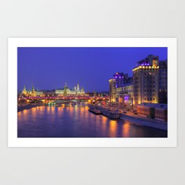 Electric Nights in Moscow Art Print