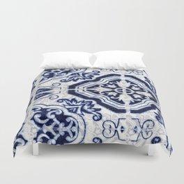 Azulejo VI - Portuguese hand painted tiles Duvet Cover