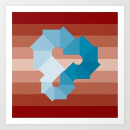Square Spectrum (Cyan) Art Print