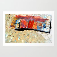 colour wood by the sea Art Print