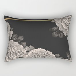 Flowers on a winter night Rectangular Pillow