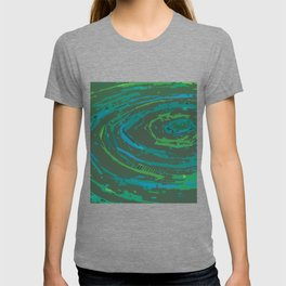 Coiled Greens & Blues T-shirt