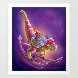 Raptor Swing - Warcraft Art Print