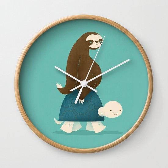 Slow Ride Wall Clock By Jay Fleck Society6