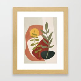 Two Abstract Branches Framed Art Print