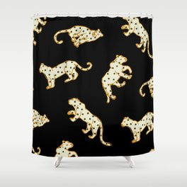 Leopard at Night Shower Curtain