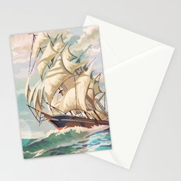 Paint by Number Ship At Sea Stationery Cards