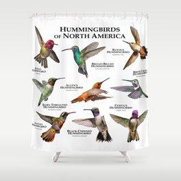 Hummingbirds of North America Shower Curtain