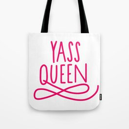 Yass Queen Broad City Hand Lettering Art In Pink Tote Bag