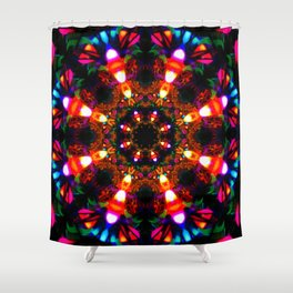Laced Candy Corn Shower Curtain