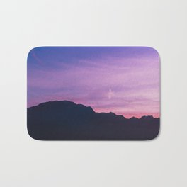 Winter Sunset with Mountains - Landscape Photography Bath Mat