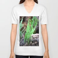 fern V-neck T-shirts featuring fern by  Agostino Lo Coco