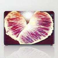health iPad Cases featuring Blood Red Orange Heart Health by ANoelleJay