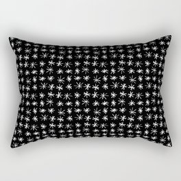 stars 77 - black and white Rectangular Pillow