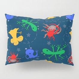 Aliens in Space - Blue Pillow Sham