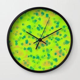 Abstract green hearts Wall Clock