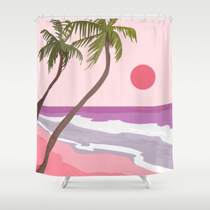 Tropical Landscape 01 Shower Curtain