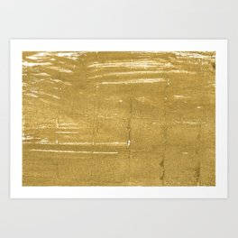 Aztec Gold abstract watercolor Art Print