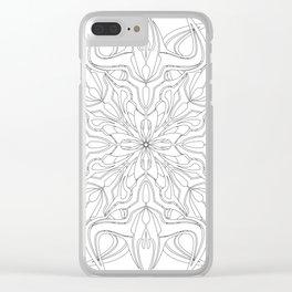 Minotaur Mandala Clear iPhone Case