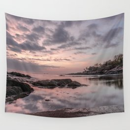 Pastel Plum cove Sunset 5-10-19 Wall Tapestry