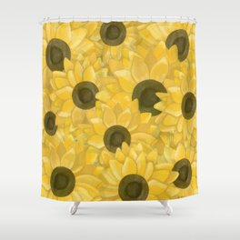 Kansas Sunflowers Shower Curtain