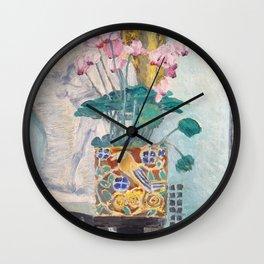 """Charles Rennie Mackintosh """"Cyclamen"""" Wall Clock"""