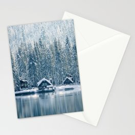 Winter's Cottage (Color) Stationery Cards
